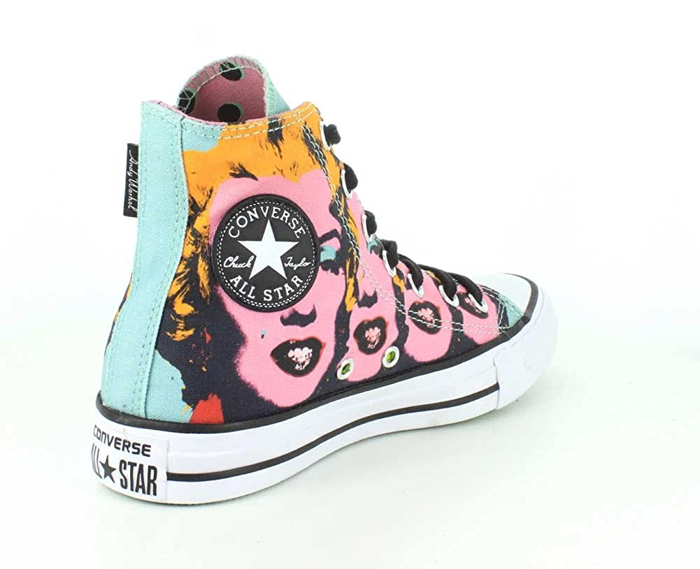 e5e9e78898e Converse Unisex Chuck Taylor All Star Andy Warhol Marilyn Monroe High Top  Lichen Orchid Smoke White Sneaker - 4 Men - 6 Women  Buy Online at Low  Prices in ...