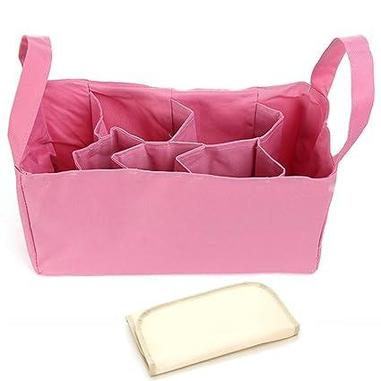 Elesa milagro bolsa de pañales Insertar Organizador + para cambio de pañales Pad Valor Combo rosa