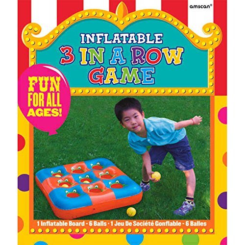 Amscan Carnival Fair Fun Inflatable 3 in a Row Game Activity Plastic 27