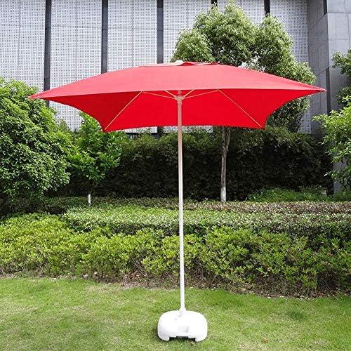 パラソル2M / 6.6 '屋外パティオスクエアガーデンテーブルパラソル、屋外ヤード用、ビーチコマーシャルイベントマーケット、プールサイド(色:フルーツグリーン)