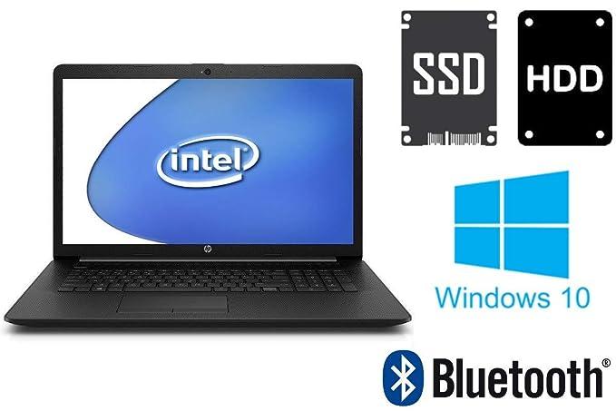 Notebook HP 17-by - 4GB RAM - 128GB SSD + 1000GB HDD - Webcam - 44 cm (17.3 Zoll) Matt - Windows 10 Pro 64BIT