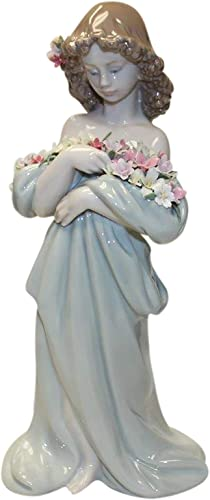 Lladro Petals of Love 06346 Lady with Flowers