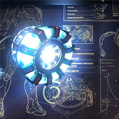TONY DIY ARC REACTOR LAMP KIT OR BUILTED MODEL LED FLASH LIGHT SET