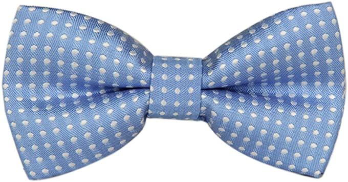 Boys Youth Blue Snowman Pre-Tied Cotton Adjustable Bow Tie