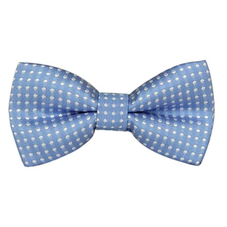 f9b7f32e014c Boys Girls Baby Children Solid Color Satin Bow Ties Bowtie (Light Blue  White Polka Dots): Amazon.ca: Luggage & Bags