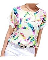 Lookatool Women's Blouse Top Casual Short Sleeve Loose T-Shirt