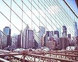 new york architectural metals - Brooklyn Bridge New York City photography Architectural photo 5x7 inch Print