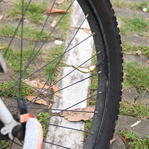 オートバイ タイヤ バルブ ステム 延長 真鍮製 90度+135度 米国タイプ 2個入り