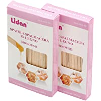 CCbeauty Hair Removal Wax Applicator Sticks Large Wood Craft Sticks 100 Count-Pack of 2