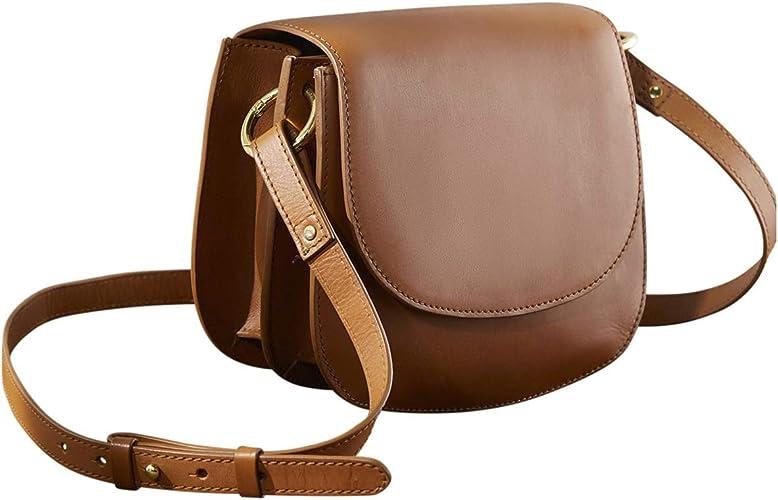 Cyrillus Sac besace femme en cuir TU Camel: Amazon.fr: Chaussures ...