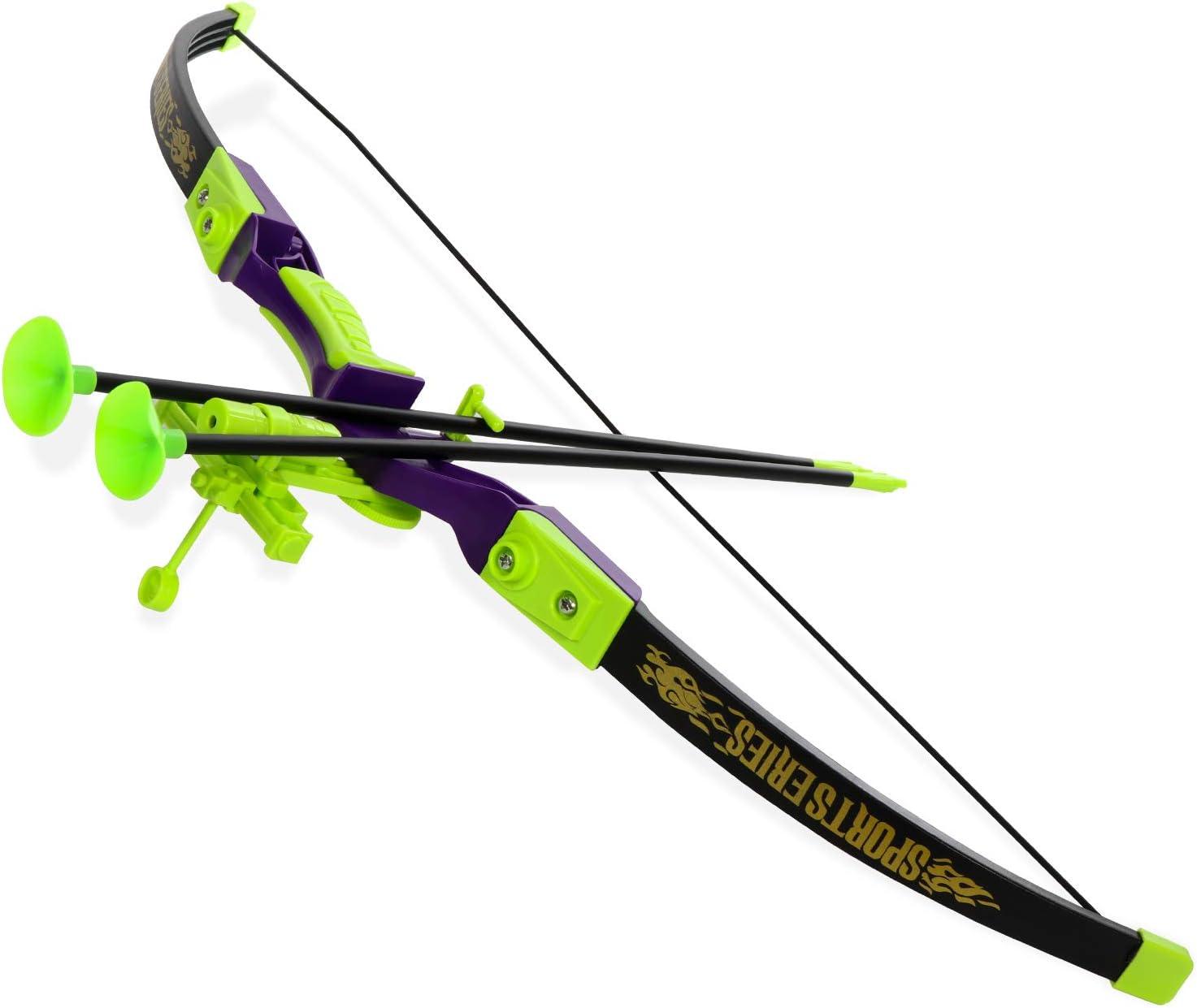 Bullseye Bow Kids Bow and Arrow Set Beginner Archery Toy Black Camo Training Kit