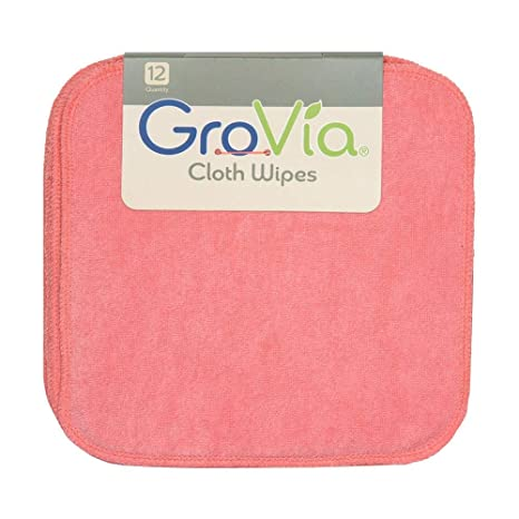 Amazon.com : GroVia Reusable Cloth Diapering Wipes, 12 Count, Abalone : Baby