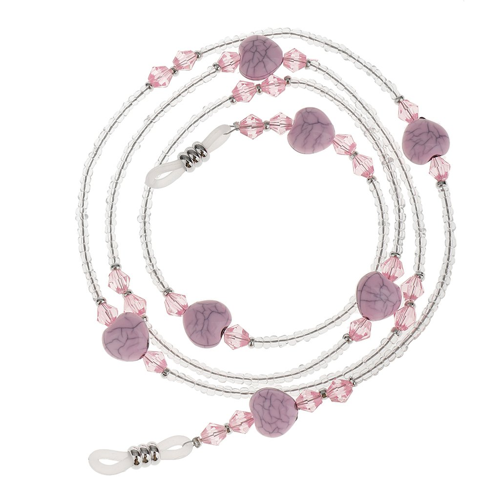 Baoblaze Colorful Beads Turquoise Non- Slip Eyeglasses Chain Sunglasses Retainer Holder Neck for Women Girl