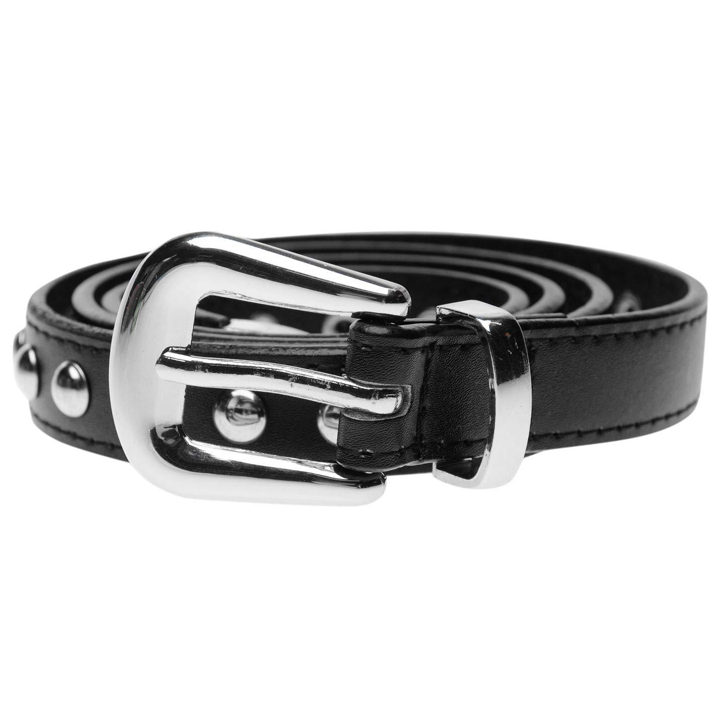 TALLA S (EU 38/UK 10). Firetrap Mujer Cinturón Fino Con Tachuelas