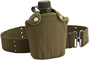 Coleman Military Canteen with Cover and Belt