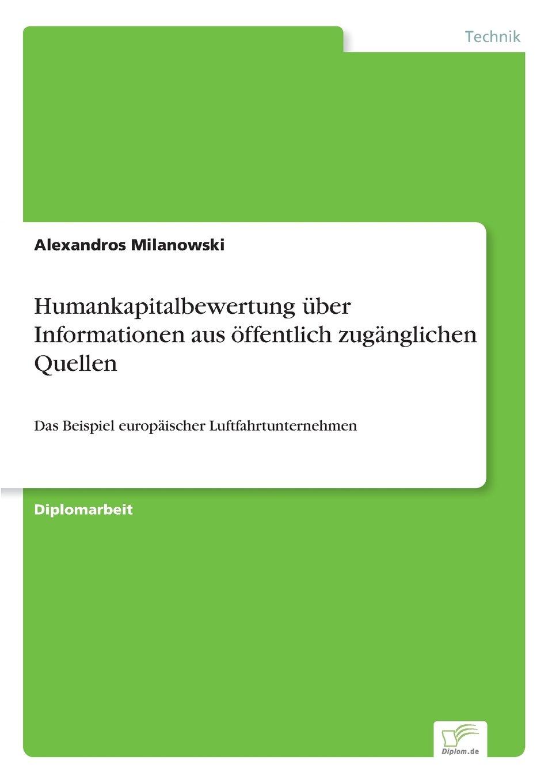 Download Humankapitalbewertung über Informationen aus öffentlich zugänglichen Quellen (German Edition) PDF