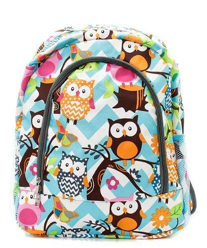 Chevron Handbag Canvas Stripe Owl GRAY Large Backpack gUdaUqp