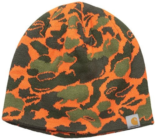 Carhartt Men's Montgomery Reversible Hat, Blaze Duck Camo, One Size by Carhartt