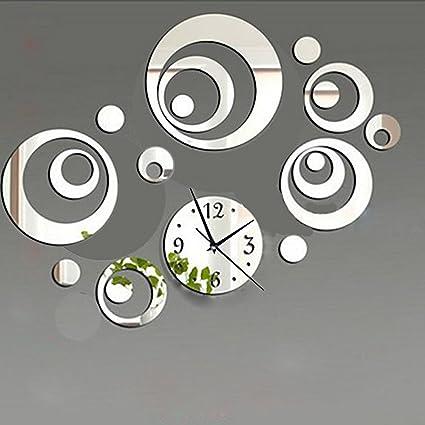 Excellent Amazon.com: DIY Decorative Modern Mirror Wall Clock Sticker  LV28