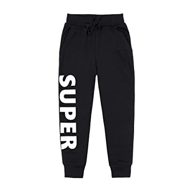 beautyin Boys Long Sweatpants Active Jogger Pants with Pocket in Basic Color