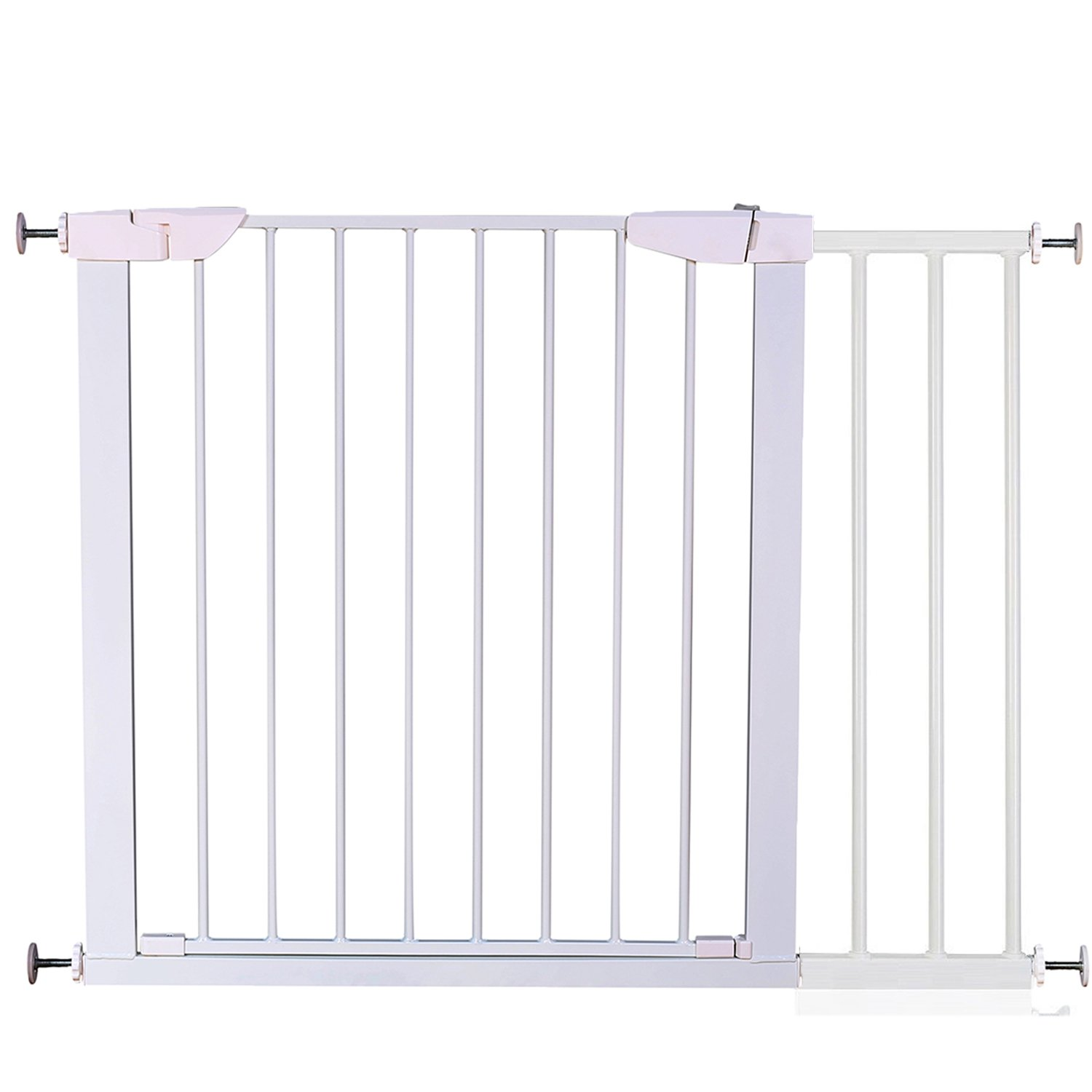 Fairy Baby Easy Step Walk Thru Pet and Baby Gate Expandable 29.5'' High,Fit Spaces 43.31''-46.06''