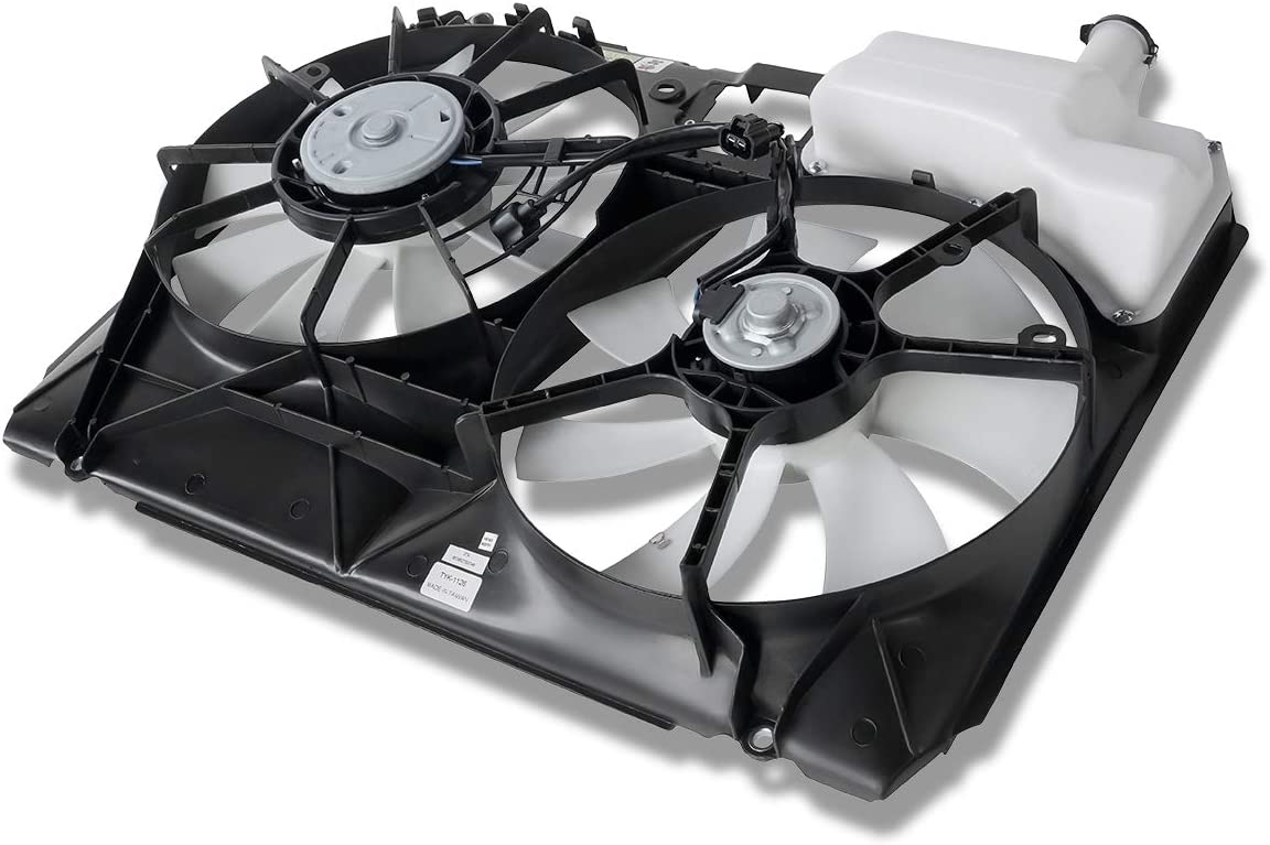 TO3115134 OE Style Dual Radiator Cooling Fan Shroud Assembly for Toyota Sienna 04-05