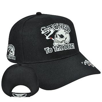 Colocado al hueso sombrero gorra ajustable Velcro marihuana ...