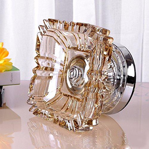 SSBY Large Crystal Glass Ashtray Home Furnishings Living Room Porch Window Decorations