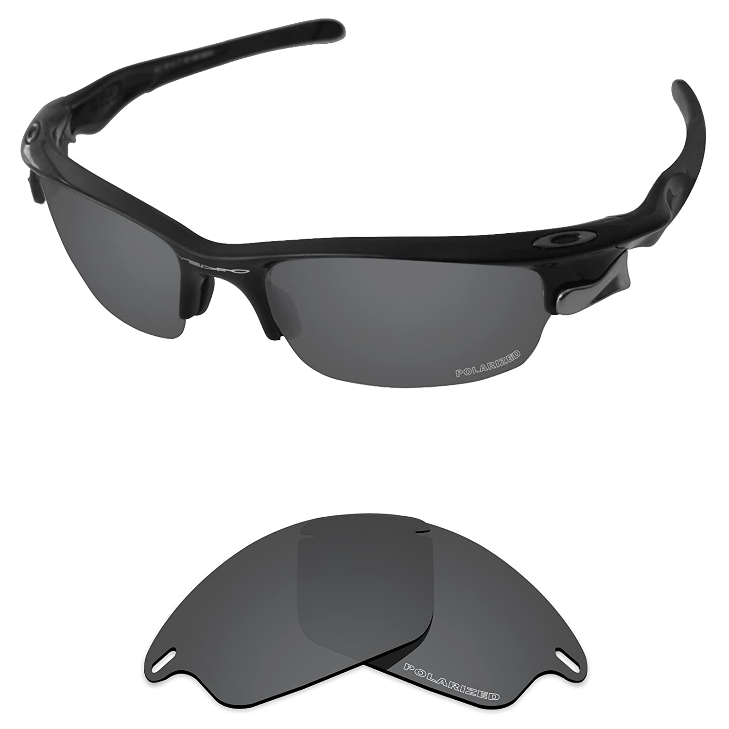 5b4ae522c6 Amazon.com  Tintart Performance Lenses Compatible with Oakley Fast Jacket  Polarized Etched-Carbon Black  Clothing