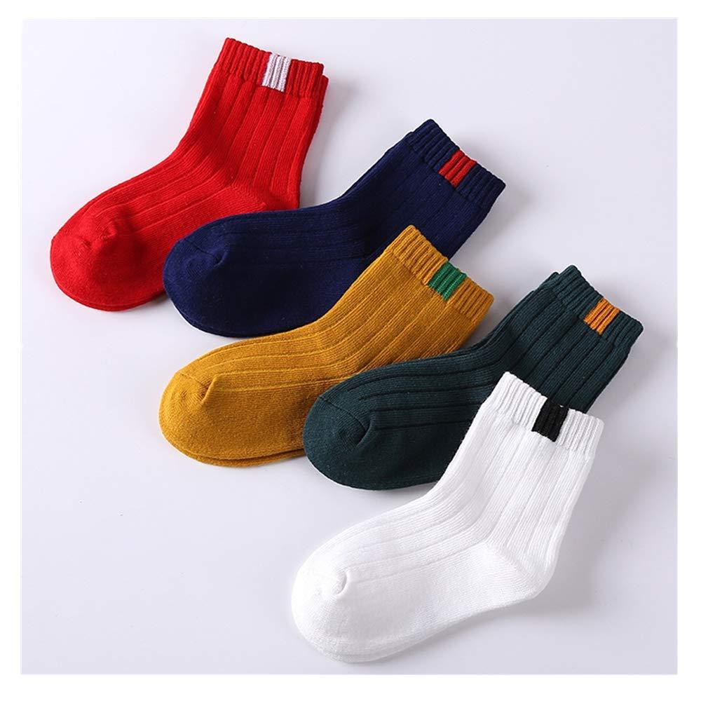 New Childrens Socks Winter Warm Cotton Socks Boys And Girls 5 Pairs