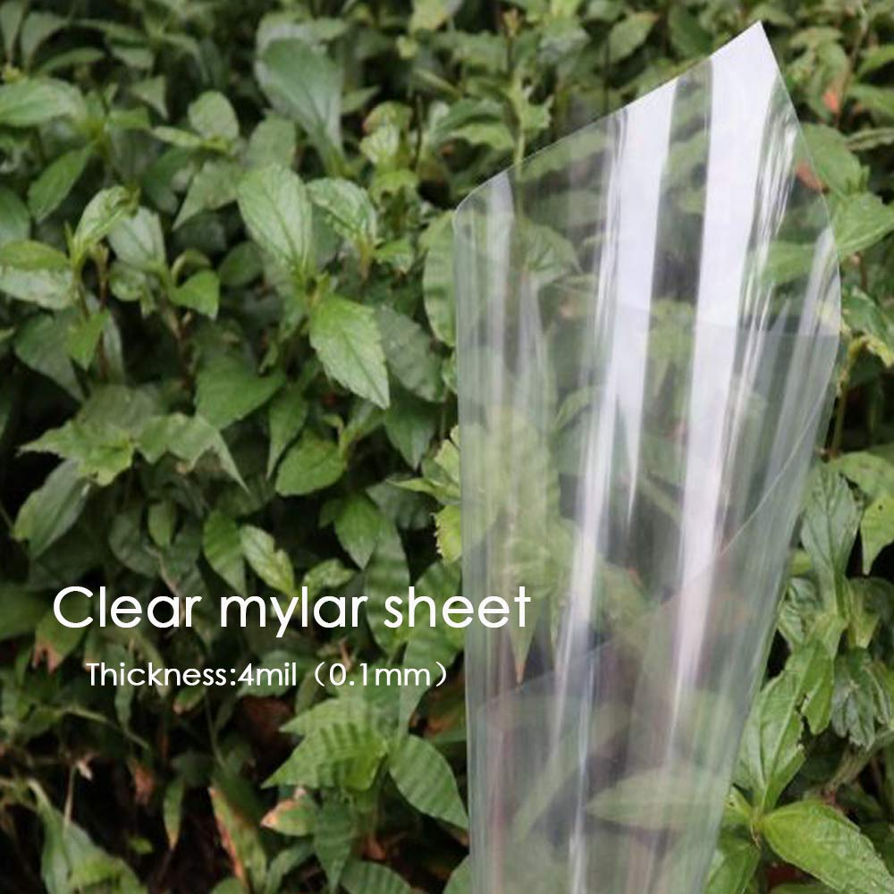 20Pcs 4Mil Clear Blank Mylar Stencil Sheets 12 x 12 Inch Perfect for Use with Cricut /& Silhouette Machines by BAISDY