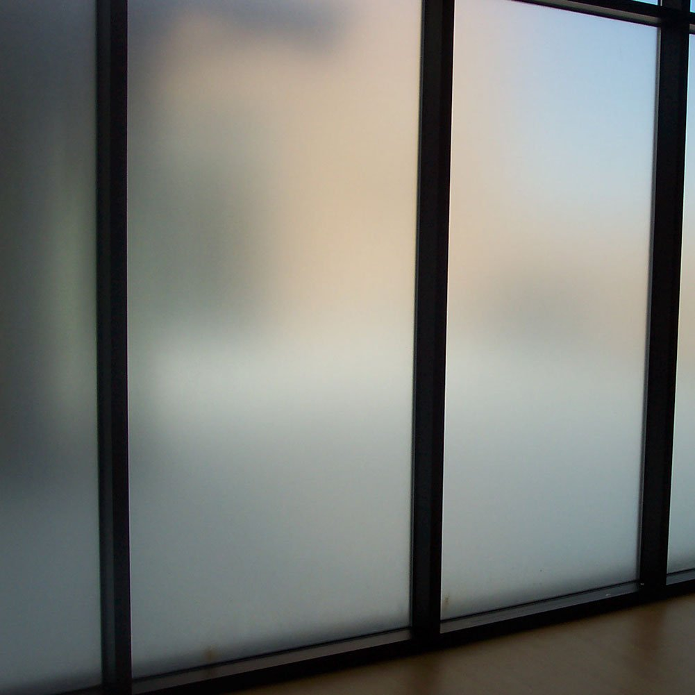 Amposei Non-Adhesive Etched Privacy Film For Glass Windows Doors 35.4 by 78.7 inches