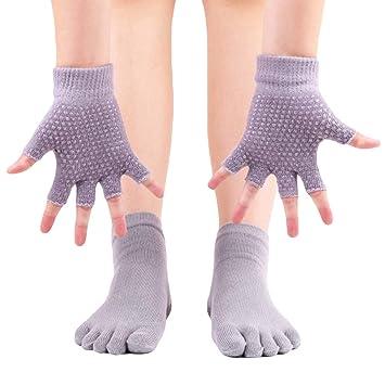 Guantes y Calcetines de Yoga para Mujeres, 1 par de ...