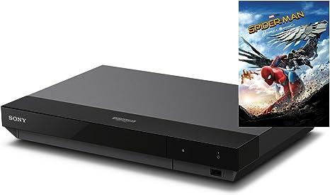 Sony UBPX700SPIIB.YE - Reproductor de BLU-Ray 4K UHD (Gran compatibilidad de formatos y conversión de señales 4K, Incluye BLU-Ray Disc 4K Ultra HD Spiderman Homecoming de Regalo) Negro: Amazon.es: Electrónica