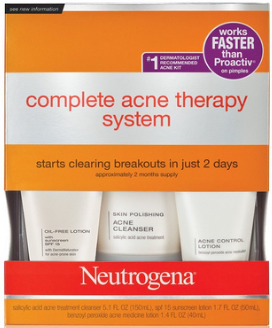 Amazon Com Neutrogena Complete Acne Therapy System Pack Of 2