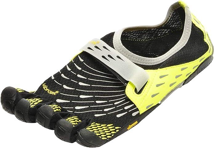 FiveFingers Komodo Sport - Zapatillas de correr de material sintético hombre, Negro / Plata / Gris, 41: Amazon.es: Zapatos y complementos