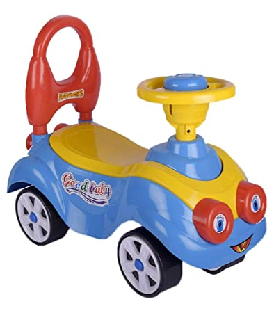 Toys Treasure Cartoon Ride On, Baby Car, Kids Car, Toy Car, Push Car with Whistle Sound Toy for 1 Year Old Baby