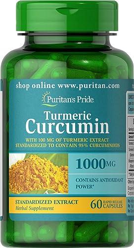 Puritan s Pride Turmeric Curcumin 1000 Mg W Bioperine Capsules, 60 Count