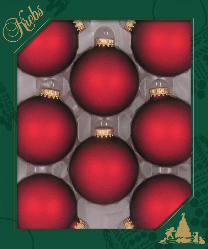 8 Pieces Made in The USA Designer Seamless Alpine Shine 2 5//8 67mm Christmas Ball Ornaments