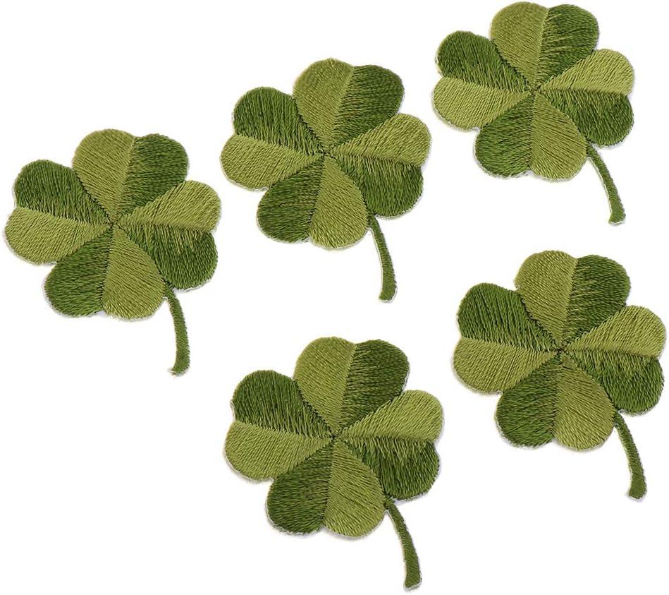 5 piezas Bordado Apliques Trifoglio-Toppa Pezza para Planchar Parches de Tela Parches Cosidos a Mano de Hierro para Ropa - Trébol de cuatro hojas: Amazon.es: Hogar