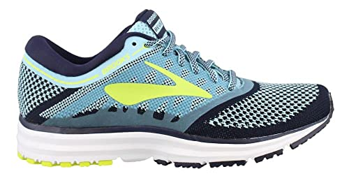 aba1d02dbca Image Unavailable. Image not available for. Colour  Brooks Women s Revel  Island Blue Evening Blue Lime Popsicle Athletic Shoe