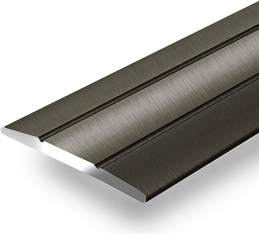 Bodenprofil Schiene Boden-Leiste mit Breite 37 mm Ausgleichsprofil Silber eloxiert Gedotec Aluminium /Übergangsprofil selbstklebend /Übergangsschiene Alu flach 1 St/ück Abdeckleiste 200 cm
