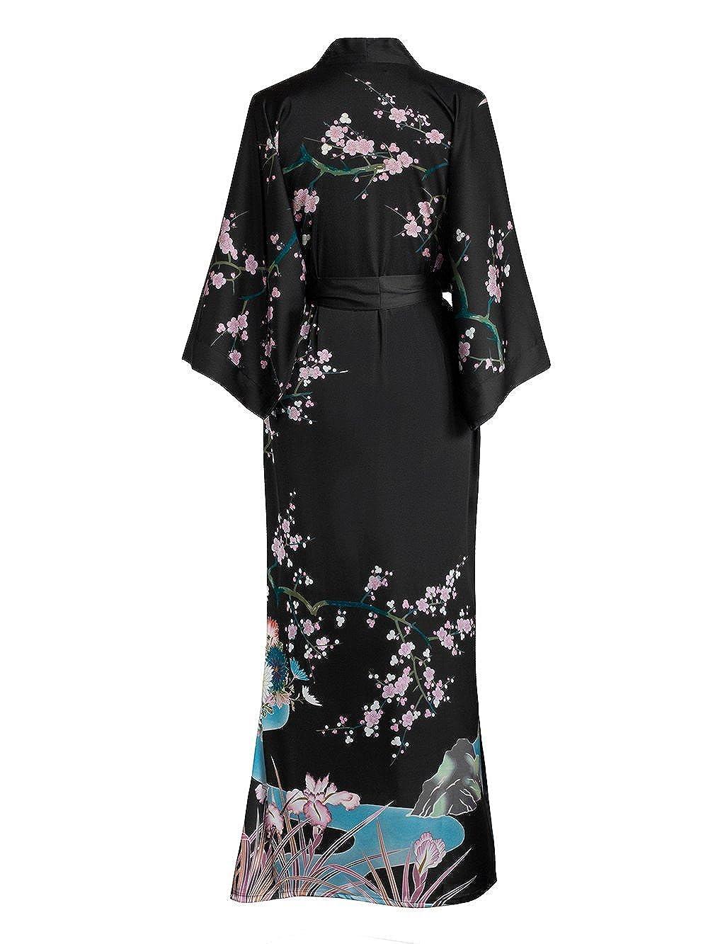 Old Shanghai de kimono de mujer albornoz largo, diseño ...