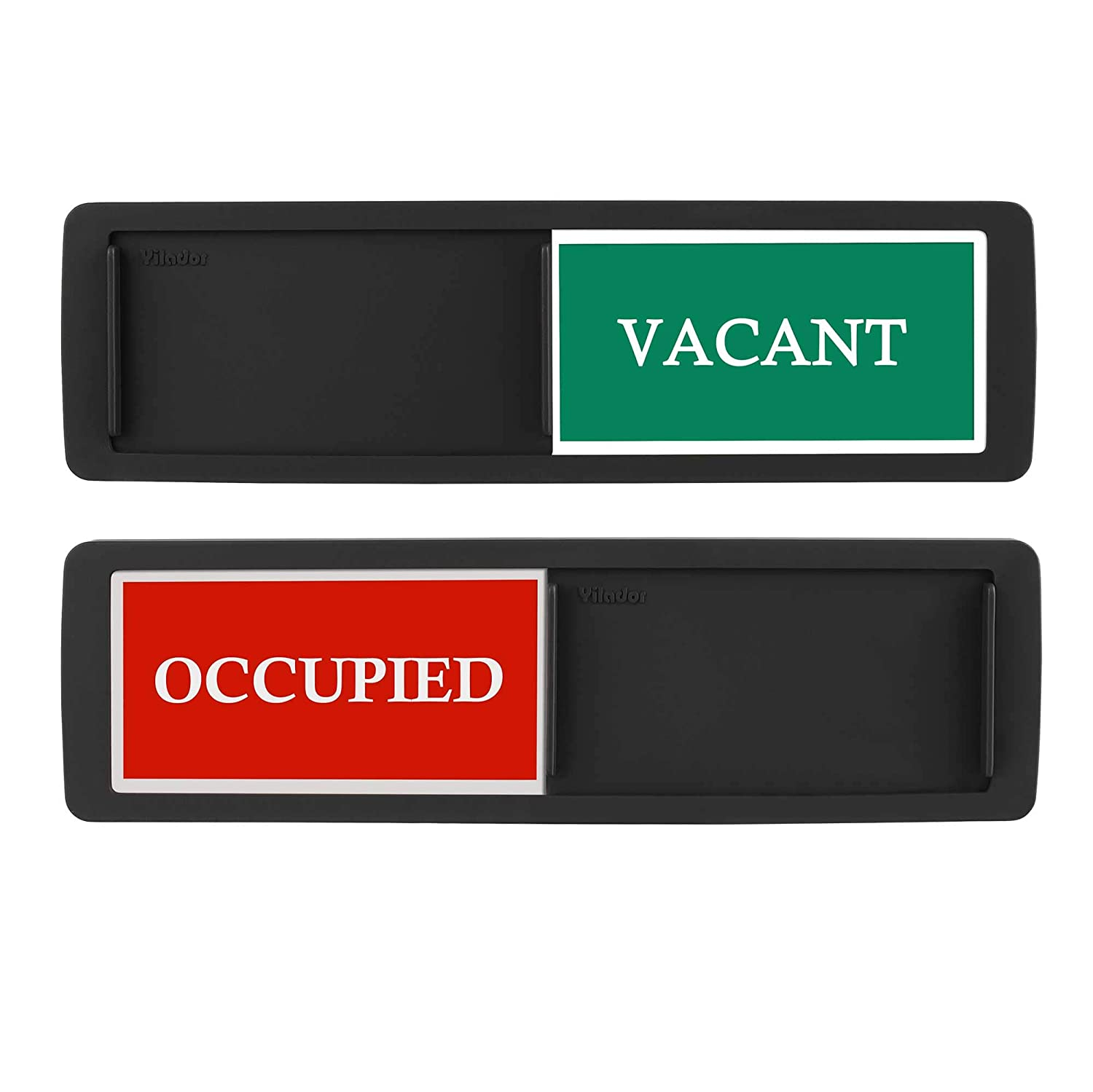 Premium Vacant Occupied Sign for home office Restroom conferenza Hotles ospedale 17,8/ x 5,1/ cm Cruz V2 Fresh Foam Slider porta indicatore se dice Room Vacant o occupati privacy segno