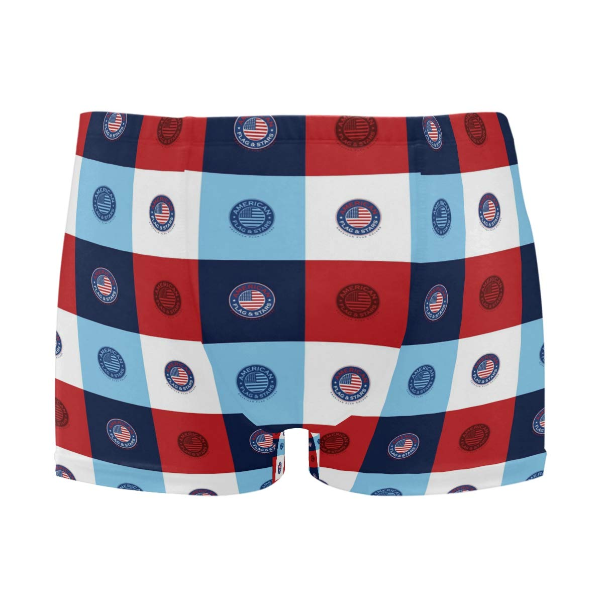 NaNa Home Mens Swim Trunks Swimwear Short American Flag Briefs Boardshorts