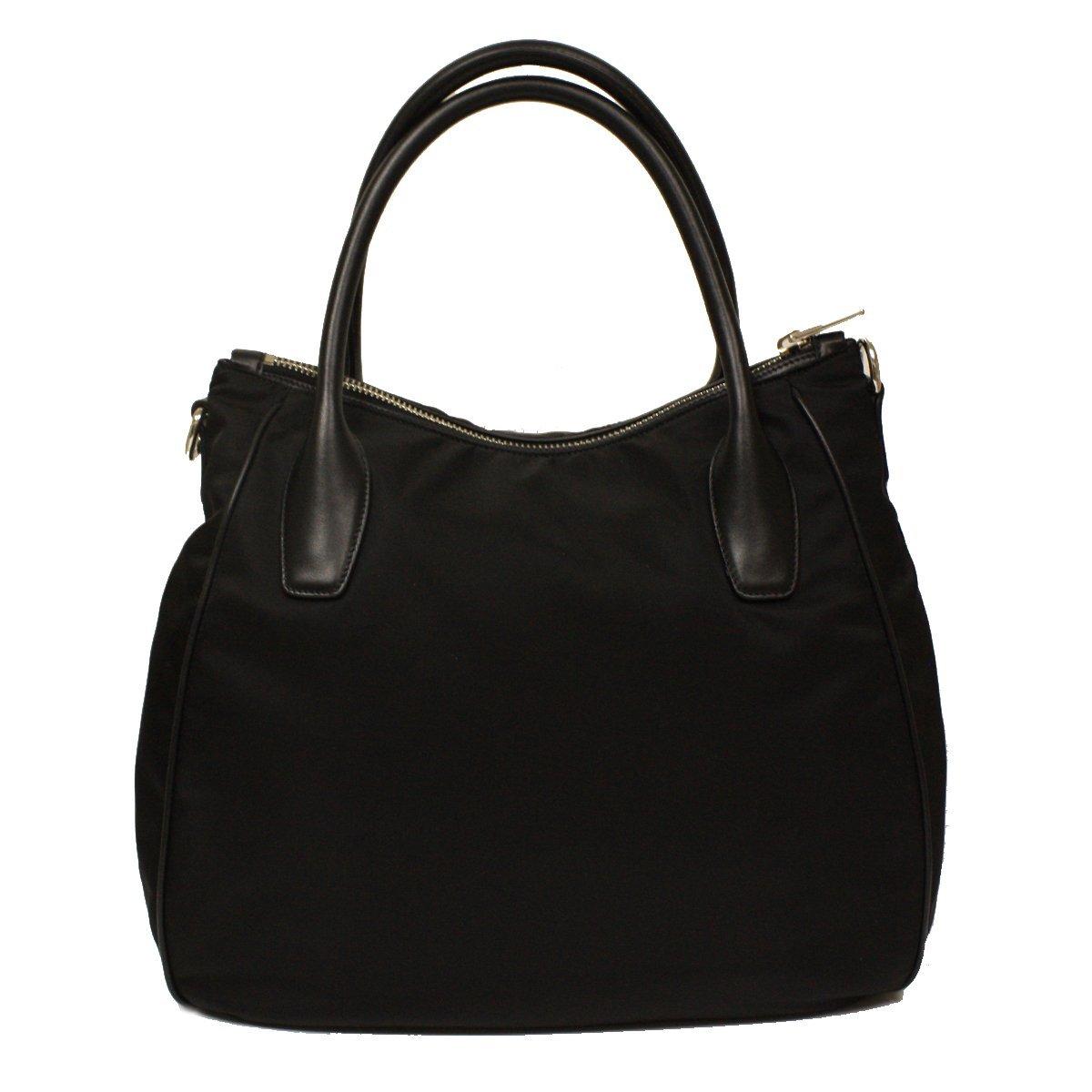 1ecf40820b488 Amazon.com  Prada Nero Black Tessuto Soft Calf Leather and Nylon Hobo  Handbag BR4992  Shoes