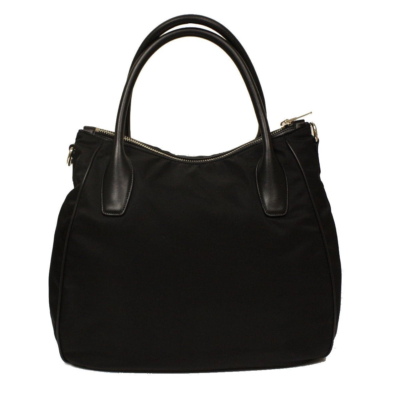 90ff8297f695 Amazon.com: Prada Nero Black Tessuto Soft Calf Leather and Nylon Hobo  Handbag BR4992: Shoes