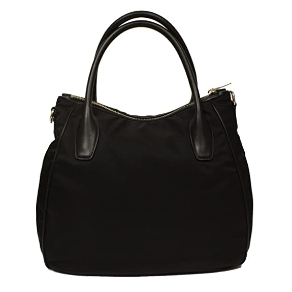 81e89cc31c Amazon.com  Prada Nero Black Tessuto Soft Calf Leather and Nylon Hobo  Handbag BR4992  Shoes
