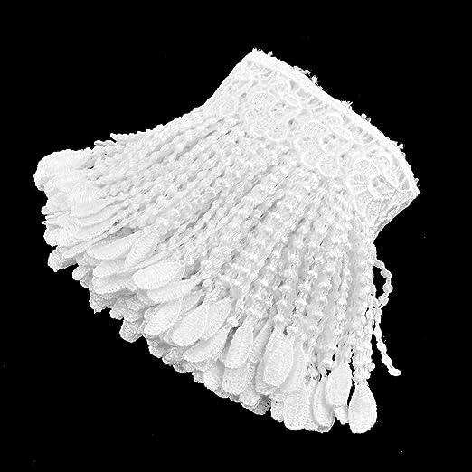 Amazon.com: eDealMax poliéster arte de DIY ropa personalizada Collar de costura del ajuste del cordón 2.2 yardas Blanca