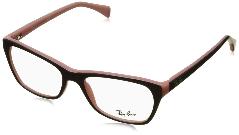 Ray-Ban Damen Brillengestell RX5298, Schwarz (Negro), 53: Amazon.de ...